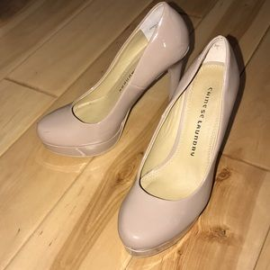Chinese laundry heels NUDE